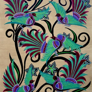 (CreativeWork) Birds and Blooms (No.5) by Lisa Dangerfield. #<Filter:0x00007fd8ac104320>. Shop online at Bluethumb.