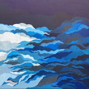 (CreativeWork) Azure by Suzanne Blake. arcylic-painting. Shop online at Bluethumb.