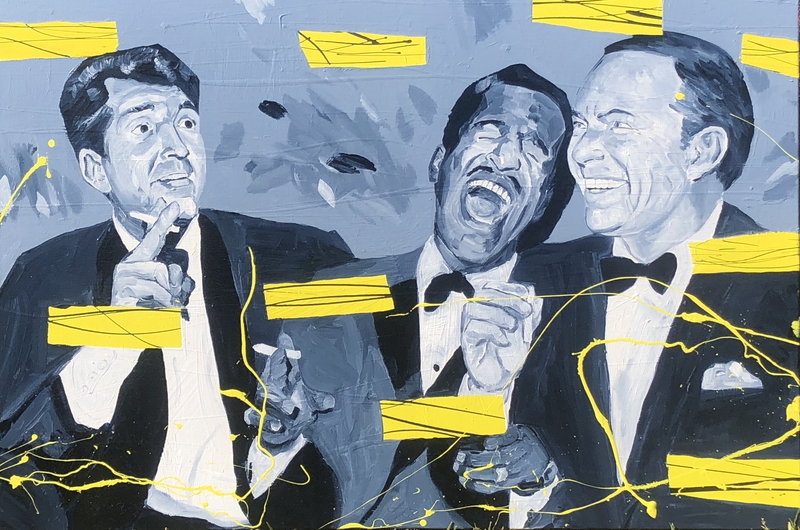 (CreativeWork) COMMISSION, RESERVED - The Rat Pack by Ben Tankard. arcylic-painting. Shop online at Bluethumb.