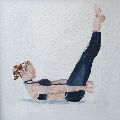 (CreativeWork) PILATES: THE  HUNDRED, POSTCODE 2011 PROPINQUITY by Mary van den Berk. Mixed Media. Shop online at Bluethumb.