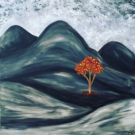 (CreativeWork) Hope Amidst the Wilderness by Abigail Beck. Acrylic Paint. Shop online at Bluethumb.