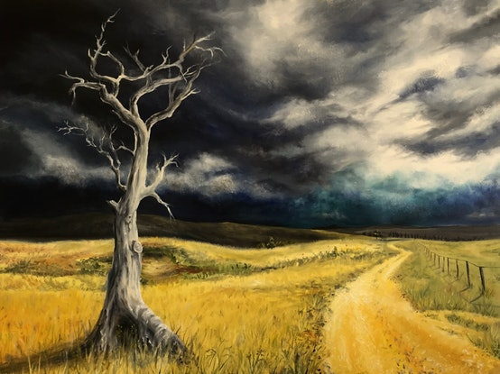 (CreativeWork) Into the Unknown by Cathy Yarwood - Mahy. Oil Paint. Shop online at Bluethumb.