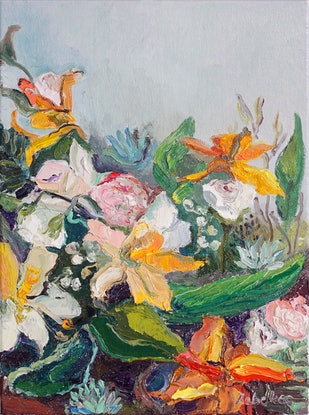 (CreativeWork) Blooming Yellow by Rebeka Bruder. Oil Paint. Shop online at Bluethumb.