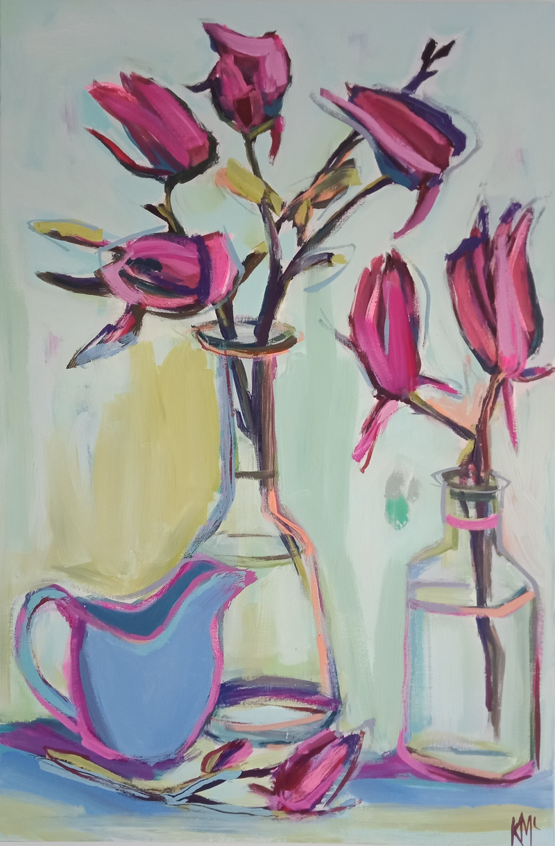 (CreativeWork) PORT WINE MAGNOLIA by Karen McPhee. #<Filter:0x000056473f1fd010>. Shop online at Bluethumb.