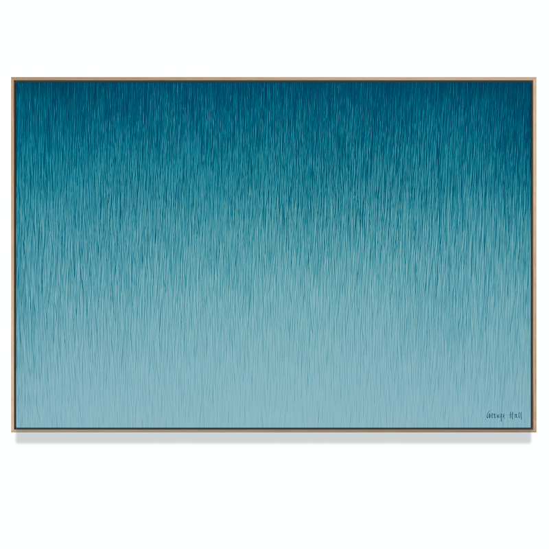 (CreativeWork) 'Silent Rain' 122 x 81cm acrylic on canvas, set in a tasmanian oak floating frame. Need 3 weeks for framing by George Hall. arcylic-painting. Shop online at Bluethumb.