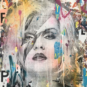 (CreativeWork) Street Icon 137 (Debbie Harry) by Cold Ghost. mixed-media. Shop online at Bluethumb.