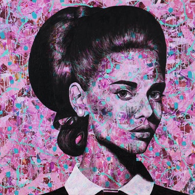 (CreativeWork) Magnificent in Magenta by Polly Johnstone. Acrylic Paint. Shop online at Bluethumb.