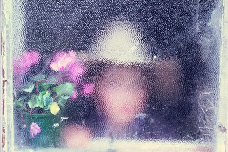 (CreativeWork) Girl Behind Frosted Window Ed. 1 of 3 by Alex Frayne. photograph. Shop online at Bluethumb.