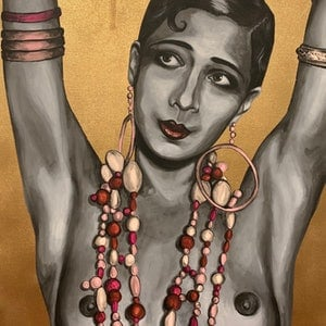 (CreativeWork) Josephine Baker by Polly Johnstone. #<Filter:0x00007f0b8d5fecc8>. Shop online at Bluethumb.