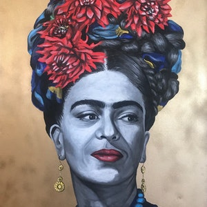 (CreativeWork) Frida by Polly Johnstone. #<Filter:0x00007f0bd2cfc828>. Shop online at Bluethumb.