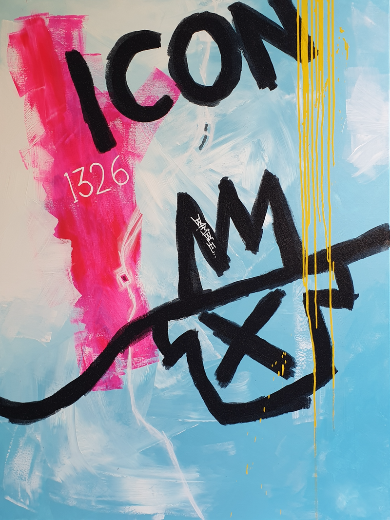 (CreativeWork) Icon Living by Jimmy Bamble. Mixed Media. Shop online at Bluethumb.