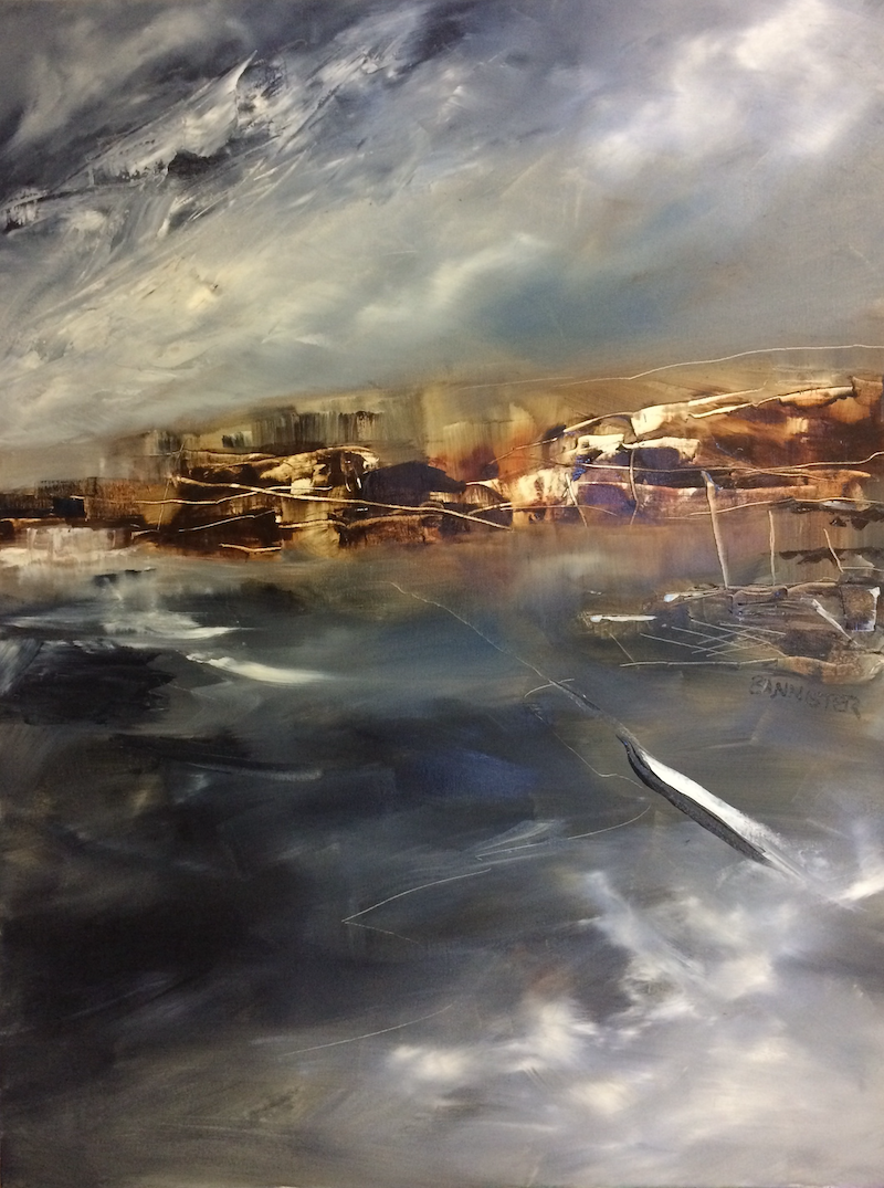 (CreativeWork) Desert storms by sue bannister. oil-painting. Shop online at Bluethumb.