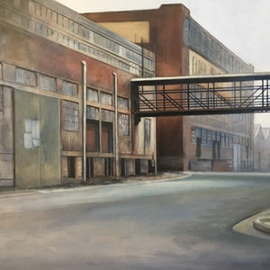 (CreativeWork) Baker St, Port Adelaide by Ross Morgan. acrylic-painting. Shop online at Bluethumb.