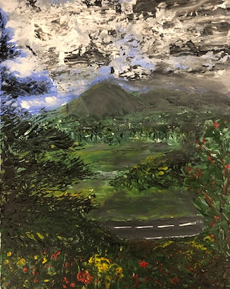 (CreativeWork) Passing Storm  by Emari 🏔. Acrylic Paint. Shop online at Bluethumb.