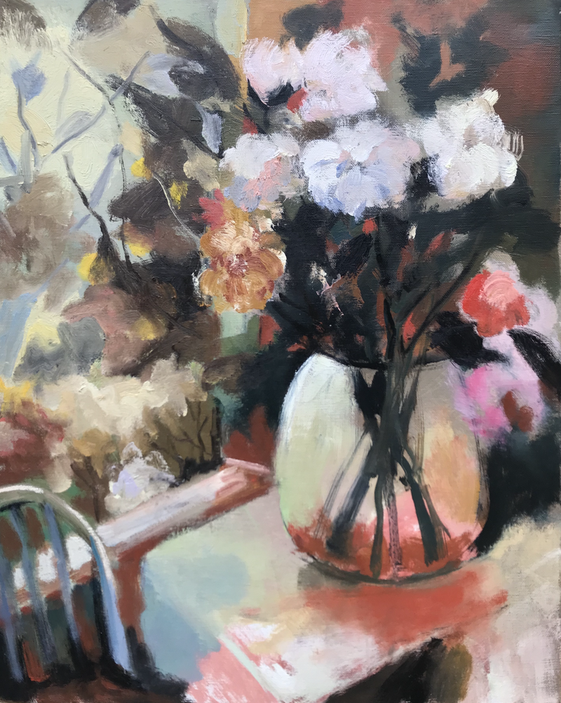 (CreativeWork) sweet fragrance No2 by Jie Zhou. oil-painting. Shop online at Bluethumb.