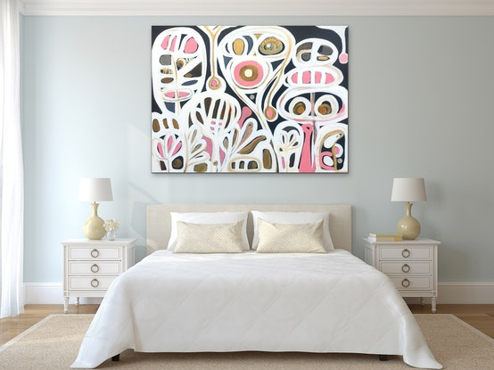 (CreativeWork) Seeds of Life III by Sarah Morrow. Acrylic Paint. Shop online at Bluethumb.