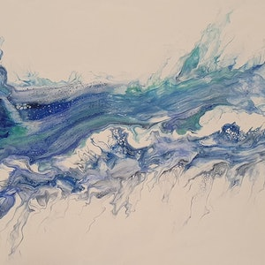 (CreativeWork) Drought breaker by Donna Lewis. arcylic-painting. Shop online at Bluethumb.