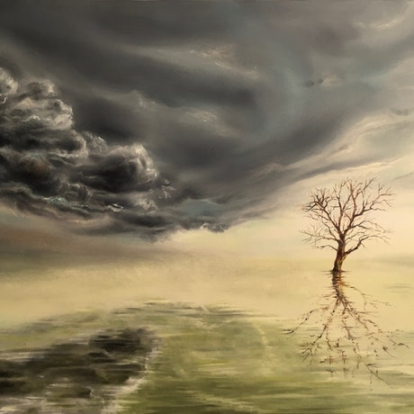 (CreativeWork) Solitude by Cathy Yarwood - Mahy. Oil Paint. Shop online at Bluethumb.