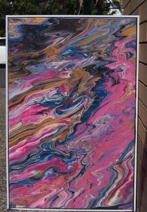 (CreativeWork) The slightest touch. by Joshua Lacy. Acrylic. Shop online at Bluethumb.