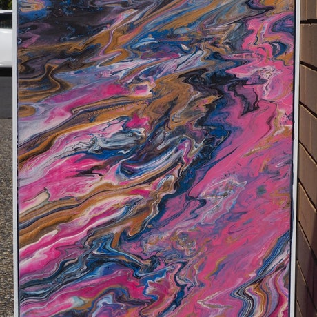 (CreativeWork) The slightest touch. by Joshua Lacy. Acrylic Paint. Shop online at Bluethumb.