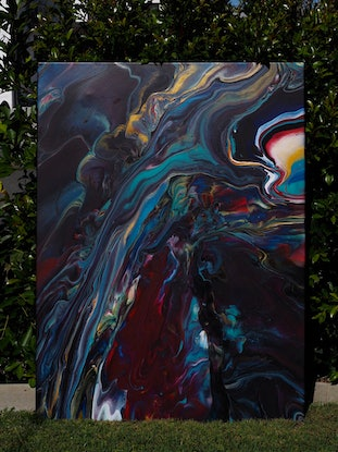 (CreativeWork) Where we reside  by Joshua Lacy. Acrylic Paint. Shop online at Bluethumb.
