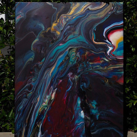(CreativeWork) Where we reside  by Joshua Lacy. Acrylic. Shop online at Bluethumb.