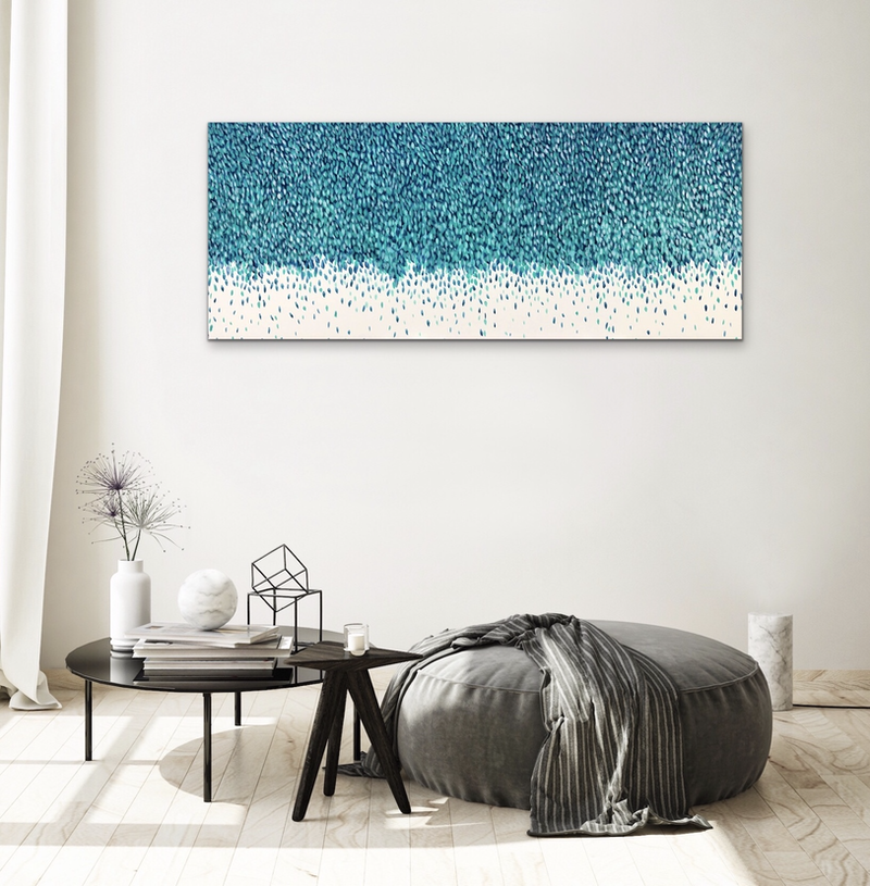 (CreativeWork) Weeping Blues  by Theo Papathomas. arcylic-painting. Shop online at Bluethumb.