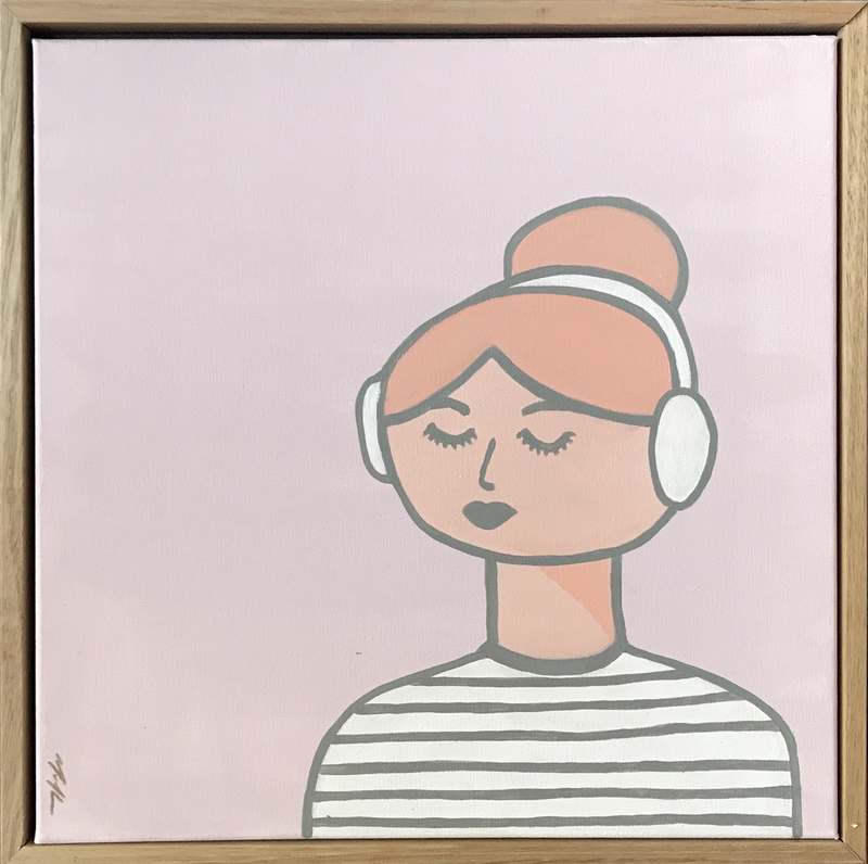 (CreativeWork) Isla Listens To Music by Marnie McKnight. #<Filter:0x0000556650f79728>. Shop online at Bluethumb.