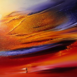 (CreativeWork) Too Fleeting For A Dream To Keep  by Scott Maxwell. oil-painting. Shop online at Bluethumb.