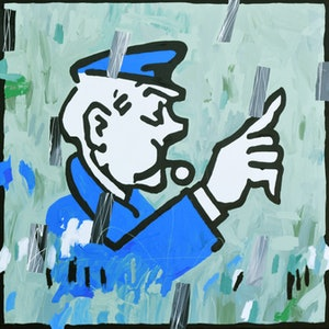 (CreativeWork) Big Cop by Ben Tankard. acrylic-painting. Shop online at Bluethumb.