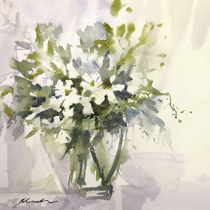(CreativeWork) Welcome the Day by Jill Bryant. watercolour. Shop online at Bluethumb.