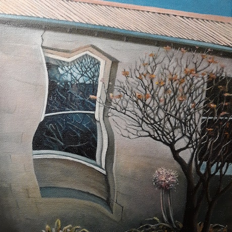(CreativeWork) Reflection (Abbotsford Convent) by Nerrida Parfitt. Oil Paint. Shop online at Bluethumb.