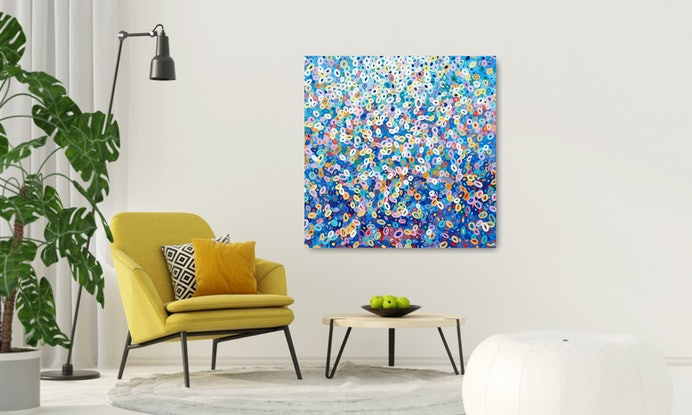 (CreativeWork) Bubbling Brook 3 - FRAMED - Abstract by Angela Hawkey. #<Filter:0x00007fc1e8fe33a8>. Shop online at Bluethumb.