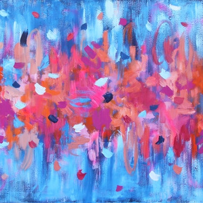 (CreativeWork) My heart is pure by Belinda Nadwie. oil-painting. Shop online at Bluethumb.