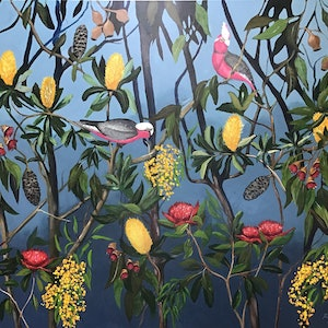 (CreativeWork) Exotic Australian garden  by Ron Brown. #<Filter:0x000055a8bf6f3390>. Shop online at Bluethumb.