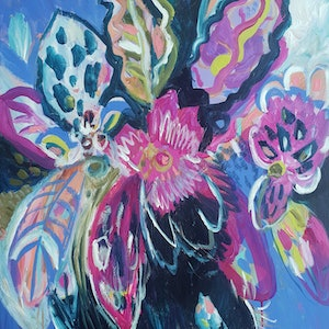 (CreativeWork) Get your dancing shoes on! by Kate Pittas. acrylic-painting. Shop online at Bluethumb.