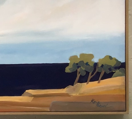 (CreativeWork) White Cliffs  by Ron Brown. Acrylic Paint. Shop online at Bluethumb.