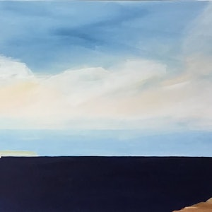 (CreativeWork) White Cliffs  by Ron Brown. arcylic-painting. Shop online at Bluethumb.