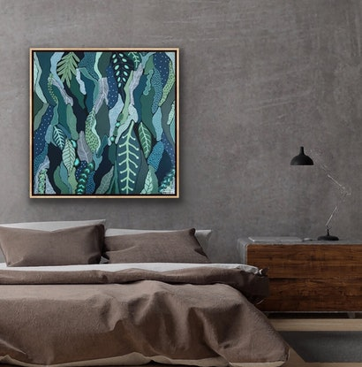 (CreativeWork) Grove  by Angelika Pacek. Acrylic Paint. Shop online at Bluethumb.