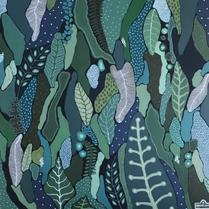 (CreativeWork) Fern Grove by Angelika Pacek. arcylic-painting. Shop online at Bluethumb.