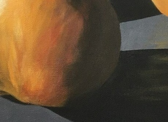 (CreativeWork) In the Spotlight......Pears (Framed) by Patricia Hillard. Acrylic Paint. Shop online at Bluethumb.