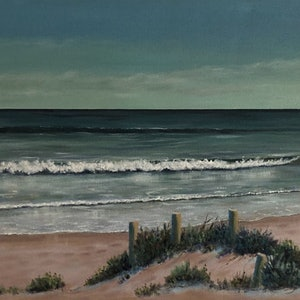 (CreativeWork) Day's End by Ann Steer. arcylic-painting. Shop online at Bluethumb.