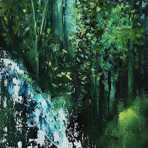 (CreativeWork) Mindfulness by Maria Cross. arcylic-painting. Shop online at Bluethumb.