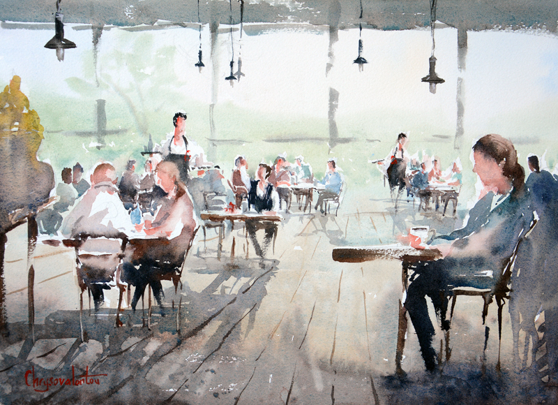 (CreativeWork) Lunch in Leura by Chrysovalantou Mavroudis. #<Filter:0x00007f48292f9db0>. Shop online at Bluethumb.