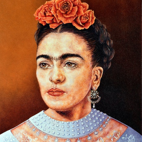 (CreativeWork) Frida In Chantilly by Luna Vermeulen. Oil Paint. Shop online at Bluethumb.