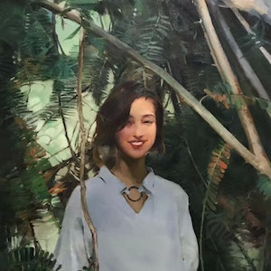 (CreativeWork) Rain Forest by Li Zhang. oil-painting. Shop online at Bluethumb.