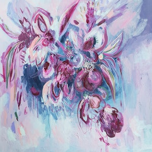 (CreativeWork) A love like no other by Kate Pittas. arcylic-painting. Shop online at Bluethumb.