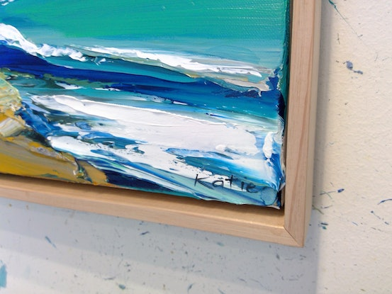 (CreativeWork) Tide by Katie Wyatt. Acrylic Paint. Shop online at Bluethumb.