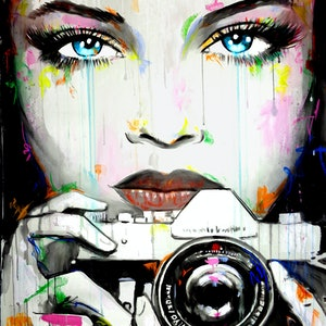 (CreativeWork) CAUGHT BY CAMERA by loui jover. acrylic-painting. Shop online at Bluethumb.