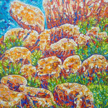 (CreativeWork) Devils Marbles by Tina Dinte. Acrylic Paint. Shop online at Bluethumb.